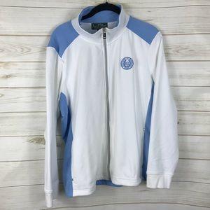 [Lauren Ralph Lauren] White Blue Full Zip Jacket